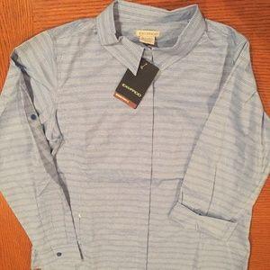 Exofficio Ventana Stripe travel shirt, blue